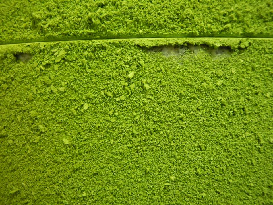 Matcha turned into powder after grinding.